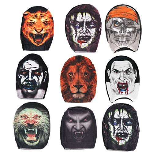 Creepy Scary Halloween Party Deluxe Halloween Costume Party Props Head Mask 6 randomised random -