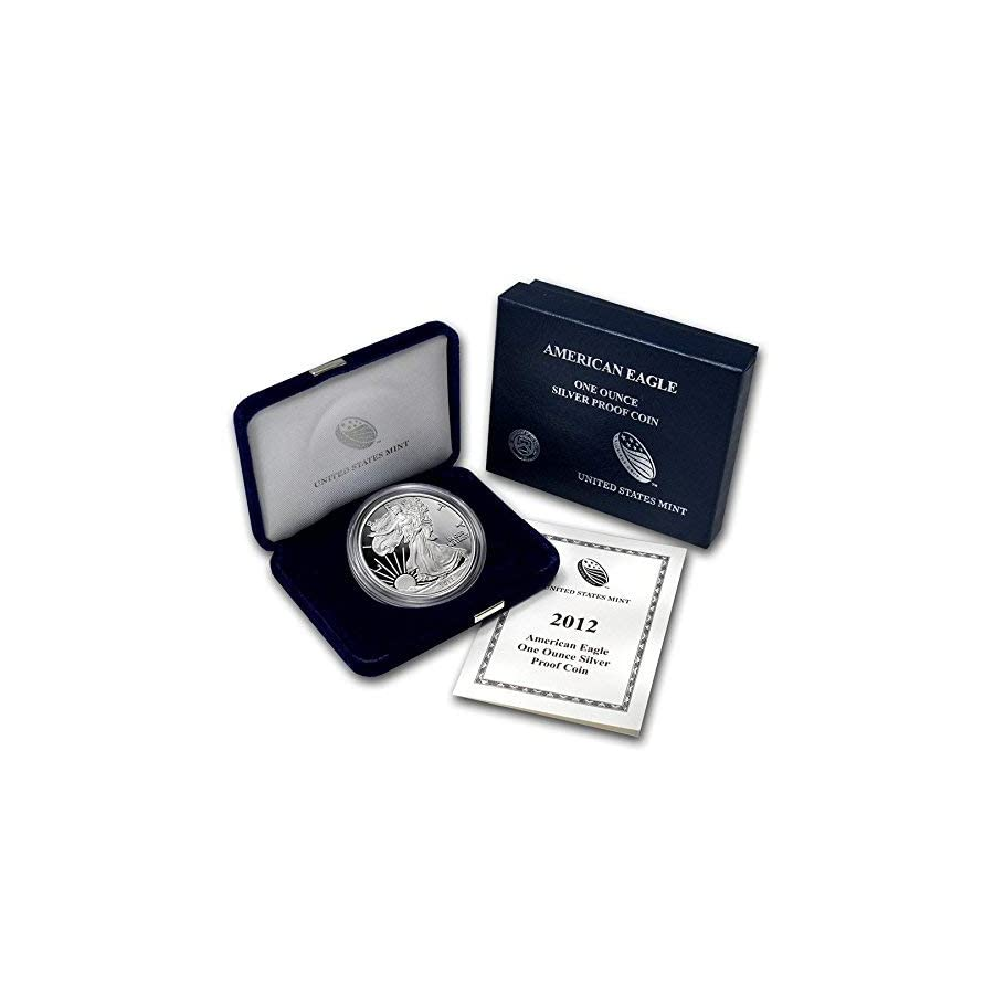 2012 W Proof American Eagle Silver Dollar with Original Packaging and COA $1 PR DCAM US Mint