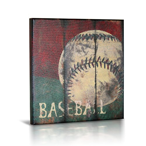 Baseball Sports Canvas Wall Art | Boys Bedroom Décor | Kids Room | Vintage Sports Art | Baseball Decor | for Sports Room & Game Room | Great Gift | Large Size 18