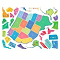 Wallies Wall Decals, U.S. Map Wall Sticker