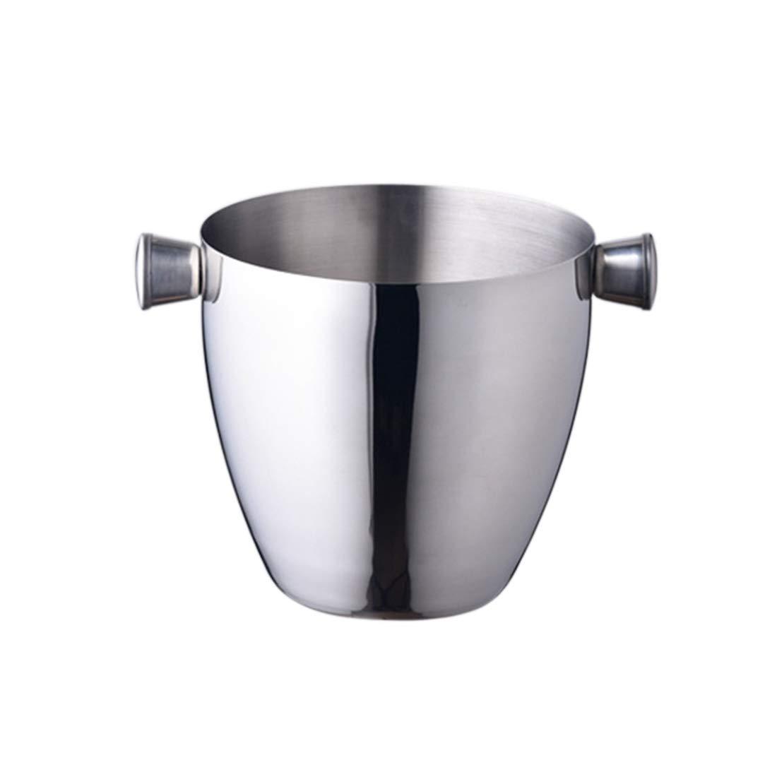 Pinji Insulated Ice Bucket Stainless Steel Kitchen ServerWare Tray Barware
