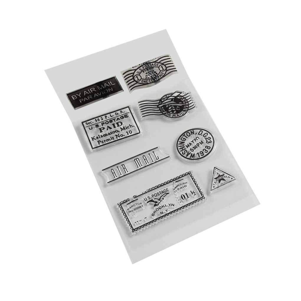 Yevison Premium Quality PVC Silicone Transparent Postmark for DIY Scrapbooking Card Stamp Supplies