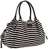 Kate Spade New York Nylon Stripe Stevie Baby Bag Shoulder Bag Black/Cream One Size