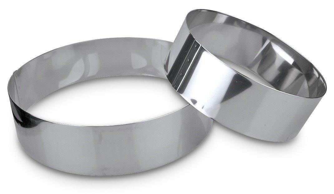Städter 625150 torta anello diametro 26 x 6 cm, in acciaio inox, argento, 25 x 5 cm,