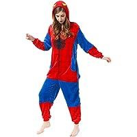 LINLIN Superhéroe Spiderman Ropa de Dormir del Mono de la Franela de una Sola Pieza Pijama de Halloween Homewear Fleece…