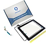 PC Hardware : FixCracked Screen replacement for iPad 2, Front Touch Digitizer Assembly Replacement include Home Button +Camera Holder + Adhesive pre-installed+Middle Frame Bezel+WIFI Antenna Cable (Black)
