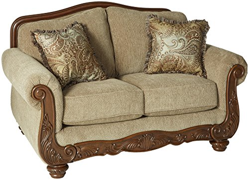 Ashley Furniture Signature Design - Martinsburg Loveseat Sofa - Traditional Style Couch - Meadow with Brown ()