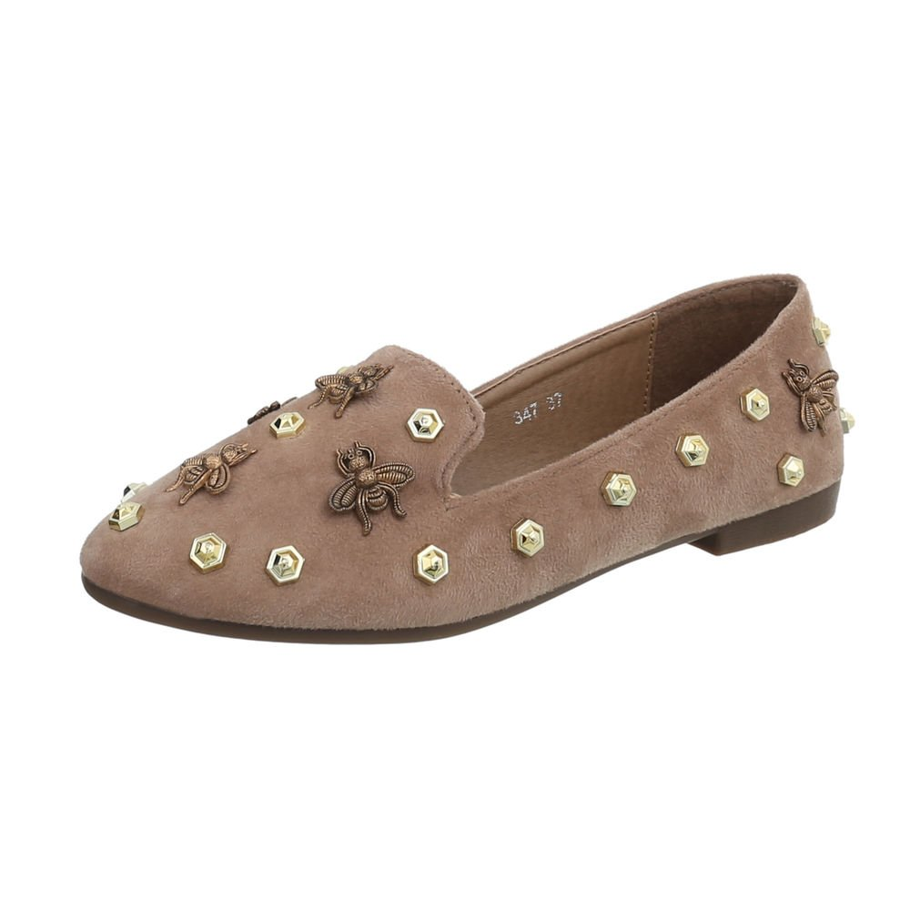 Ital-Design 347 Chaussures Femme 12079 Mocassins Bloc Chaussures Slippers Bronzage 347 94b9469 - piero.space