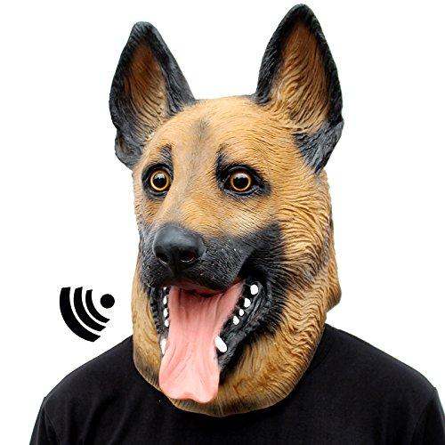 Best Scary Halloween Masks (CreepyParty Novelty Halloween Party Latex Animal Dog Head Mask Sounding German Shepherd (Sounding))