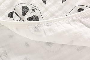 Miracle Baby Mantas Bebe Algodón, Swaddle Blanket Muselina 100% Algodón, Arrullo para Bebe,Baño De Envolver Para Recién Nacido Dos Capas 110x150cm: Amazon.es: Bebé