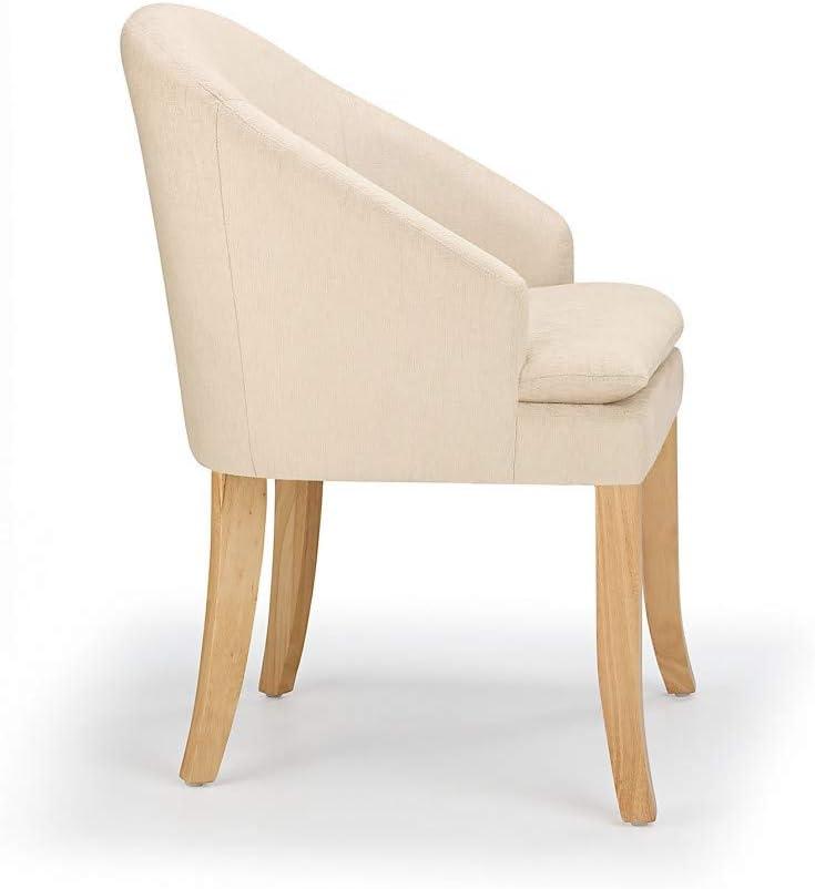 Orkney Dining Chair (Cream & Oak) Cream & Oak