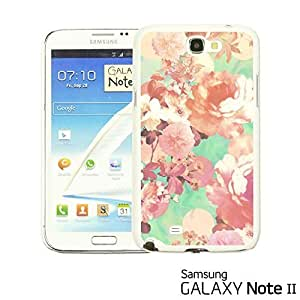 OnlineBestDigital - Flower Pattern Hardback Case for Samsung Galaxy Note 2 - Romantic Pink Flower