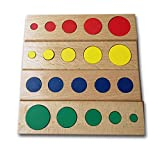 Montessori Knobless Cylinders With Socket Kids