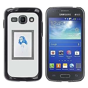 Caucho caso de Shell duro de la cubierta de accesorios de protección BY RAYDREAMMM - Samsung Galaxy Ace 3 GT-S7270 GT-S7275 GT-S7272 - Hippie Blue Poster Frame