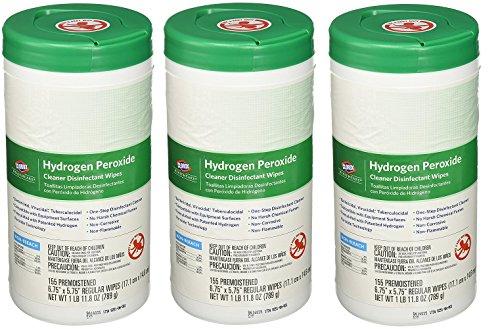 [Saalfeld 30825 Hydrogen Peroxide Cleaner Disinfectant Wipes, Kills Norovirus TQWeBf, HIV Rotavirus, 6.75