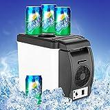 F&W Mini 6L Car Warming Refrigerator Heat Fridge 12V Auto Freezer Portable Multi-Function Anti-Rotten Keep Cool Warm