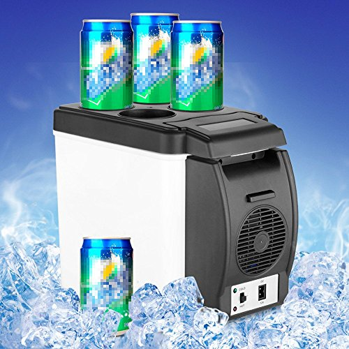 F&W Mini 6L Car Warming Refrigerator Heat Fridge 12V Auto Freezer Portable Multi-Function Anti-Rotten Keep Cool Warm by  F&W