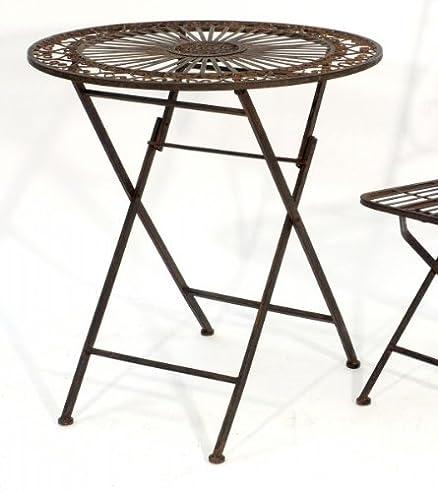 Gartentisch rund metall  Amazon.de: Romantischer Gartentisch rund Ø 70cm aus Metall ...