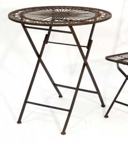 KUHEIGA Table de Jardin Table Ronde Ø 70 cm Romantique en métal ...