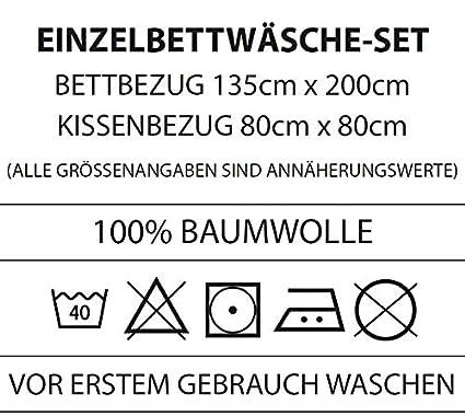 Mate & Rose Unicornio Juego de Ropa de Cama Reversible 135 x 200 + 80 x 80 cm, 100% Franela de algodón/Franela, 45803 Arco Iris: Amazon.es: Hogar
