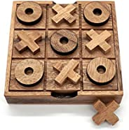 Tic Tac Toe Wood Coffee Tables Family Games to Play and a Classic Game Home Decor for Living Room Rustic Table