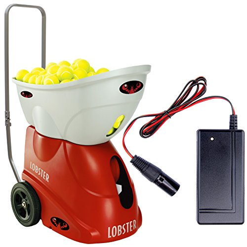 Lobster Elite Freedom Tennis Ball Machine bundled with US 1-Amp Fast Charger by Lobster Sports