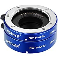 Neewer All-Metal Auto Focus Macro Close-up Extension Tube Set 10mm,16mm for Micro Four Thirds(Micro-4/3) Mirrorless Cameras, fits Panasonic G1 G2 G3 G10 GH1 GH2 Olympus E-P1 E-P2 E-P3 E-P5 E-PL1