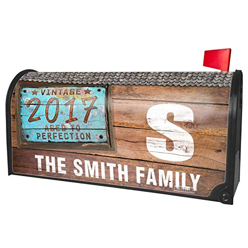 NEONBLOND Custom Mailbox Cover Vintage Year 2017, Born/Made]()
