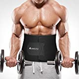 AIWEISI Waist Trimmer,Adjustable Slimmer Weight Loss Belly Burner Belt Provides Back&Lumbar Support for Men and Women for Cardio Gym Workout Exercise One Size
