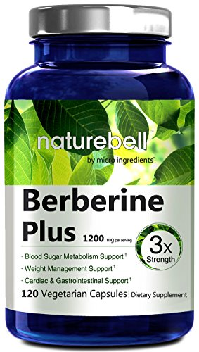 NatureBell Berberine Plus, 600mg,120 Veg Capsules, Made in USA, Support Blood Sugar, Digestive System & Cardiac Health