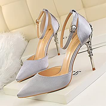 more photos f8f40 28dc0 LGK&FA High Heels With A Fine Hollow Louboutin Strappy ...
