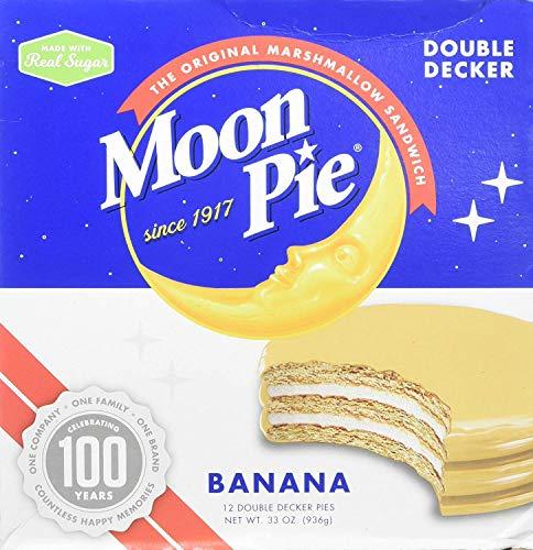 MoonPie Double Decker, Banana, 2.75 oz, 12 Count Pack