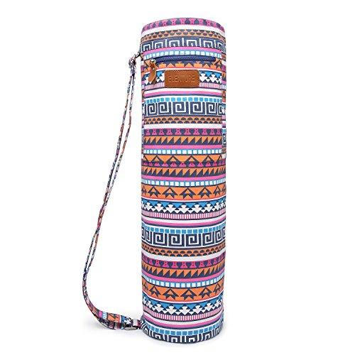 ELENTURE Full-Zip Exercise Yoga Mat Carry Bag with Multi-Functional Storage Pockets (Bohemian)