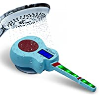 Guitarix Wireless Bluetooth Shower Speaker | High Tech Guitar Speakerphone With LCD Music Synch Lights | FM Radio, MP3 & Smartphone Track Player | Portable, Waterproof, Dustproof & Hands Free Design