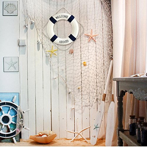 Wall Decoration Cloth : Welcome cloth decorative life ring buoy home wall nautical