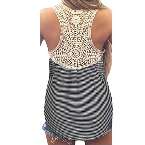 Womens Blouses Sale,KIKOY Summer Lace Vest Top Short Sleeve Casual Tank Tops Black
