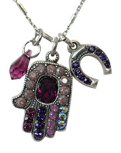 "Mariana ""Desire Hamsa Hand & Charms Swarovski Crystal Necklace"