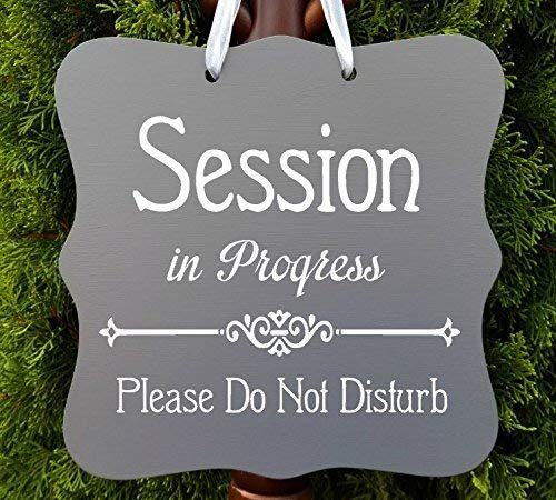 amazon com session in progress sign office business door sign