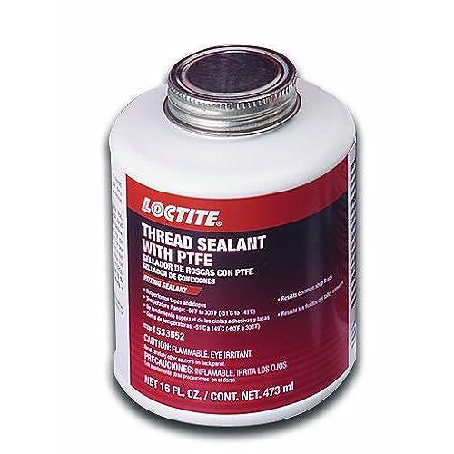 Loctite 1533652 Thread Sealant Brush Top Cap with PTFE, 16-oz.