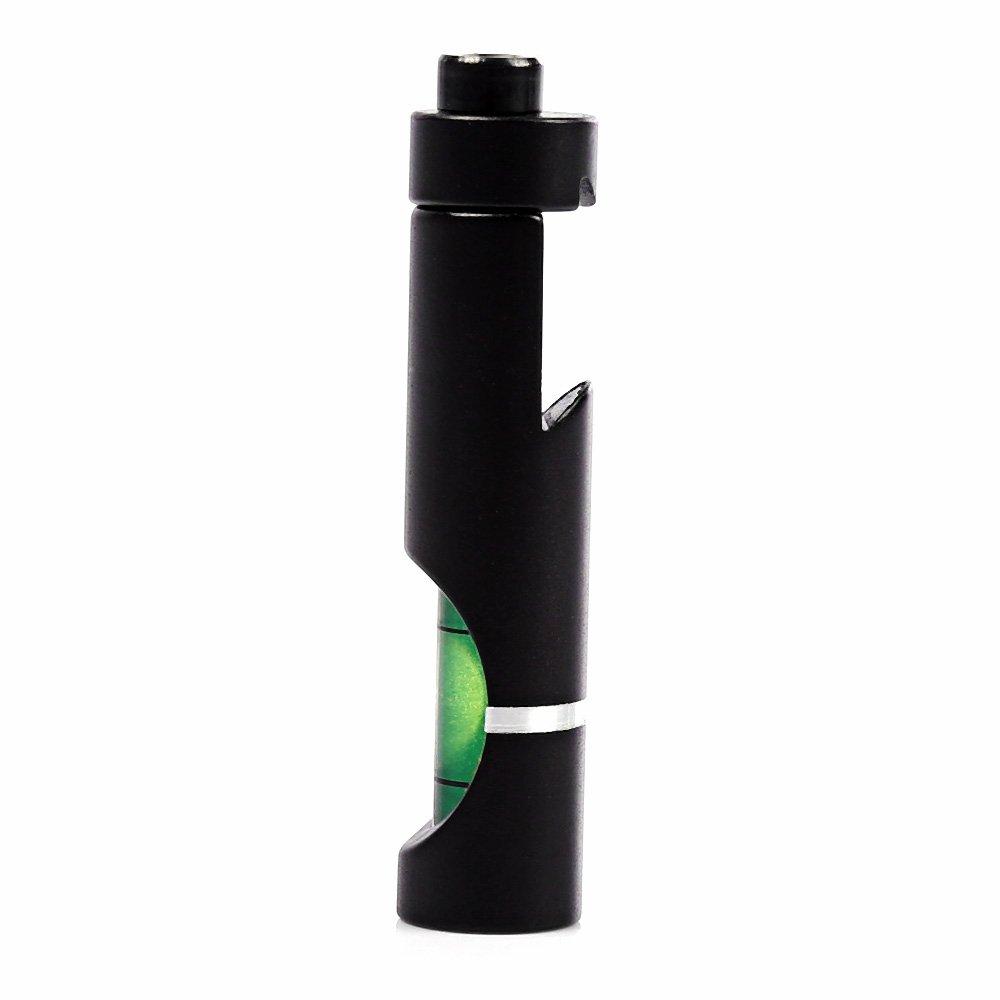 Color:Negro Wenquan,Caza t/áctica Bubble Level 11MM Trenzada Picatinny Base Accesorios de instalaci/ón de Riflescope