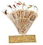 10 LARGE EGYPTIAN PAPYRUS BOOK MARKS WHOLESALE LOT
