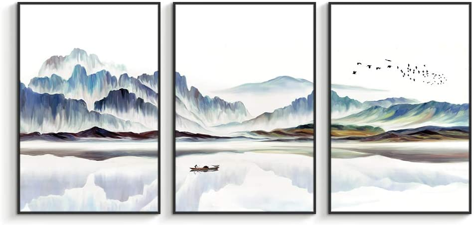 """NWT Framed Canvas Wall Art for Living Room, Bedroom Canvas Prints for Home Decoration Ready to Hanging - 24""""x36""""x3 Panels"""
