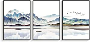 """NWT Framed Canvas Wall Art for Living Room, Bedroom Canvas Prints for Home Decoration Ready to Hanging - 16""""x24""""x3 Panels"""