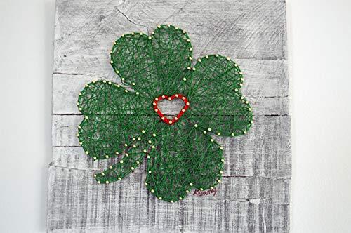 (St Patricks Day Shamrock String Art Wall Decor)