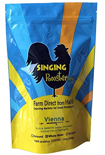 Haitian Coffee, Vienna Medium-Dark, 12oz - WHOLE BEAN