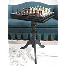 """18"""" Side Table with Chess, Checkers and Backgammon."""