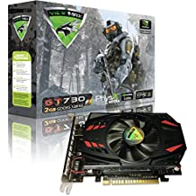 ViewMax NVIDIA GeForce GT 730 2GB GDDR5 128 Bit PCI Express (PCIe) DVI Video Card HDMI & HDCP Support WARRIOR EDITION