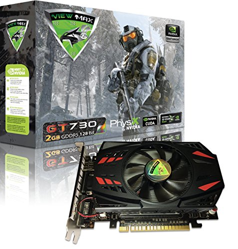 ViewMax NVIDIA GeForce GT 730 2GB GDDR5 128 Bit PCI Express (PCIe) DVI Video Card HDMI & HDCP Support WARRIOR EDITION -