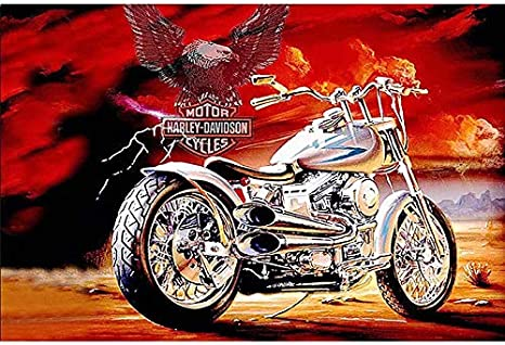 Vintage Harley-Davidson Collection 14 Van-Go Paint-By-Number Kit