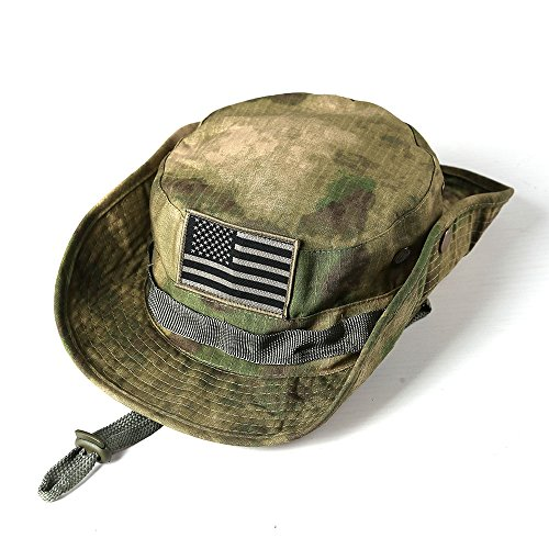 bdd5c26f48197 massmall Military Tactical Head Wear Boonie Hat Cap with USA - Import It All